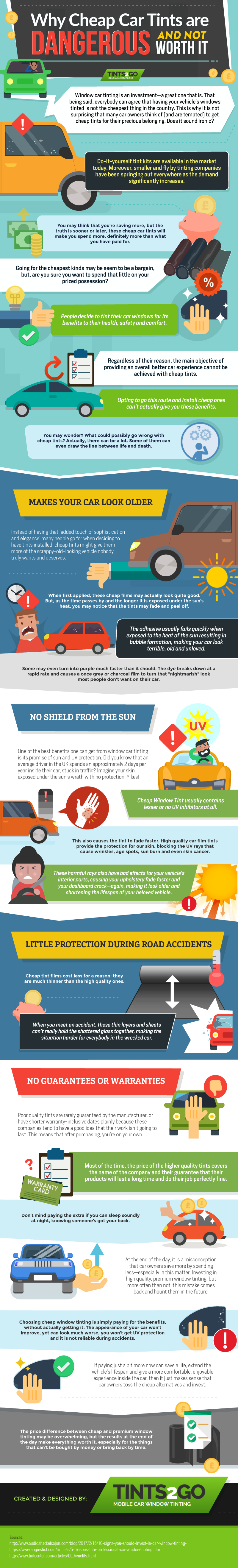 Why cheap car tints are dangerous and not worth it infographic why cheap car tints are dangerous and not worth it solutioingenieria Images
