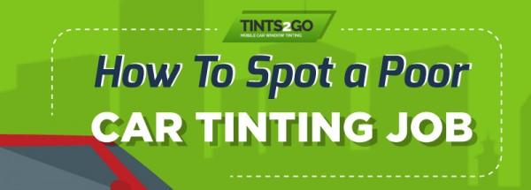 How to Spot a Poor Car Tinting Job