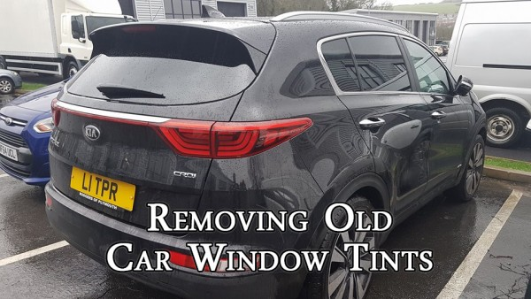 removing old car window tint