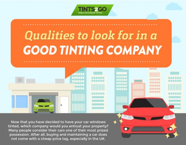 Qualities to look for in a good tinting company