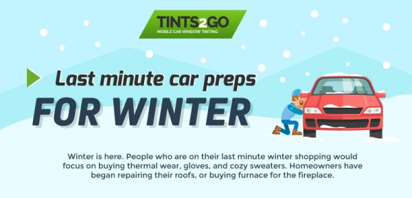 Last minute car preps for winter