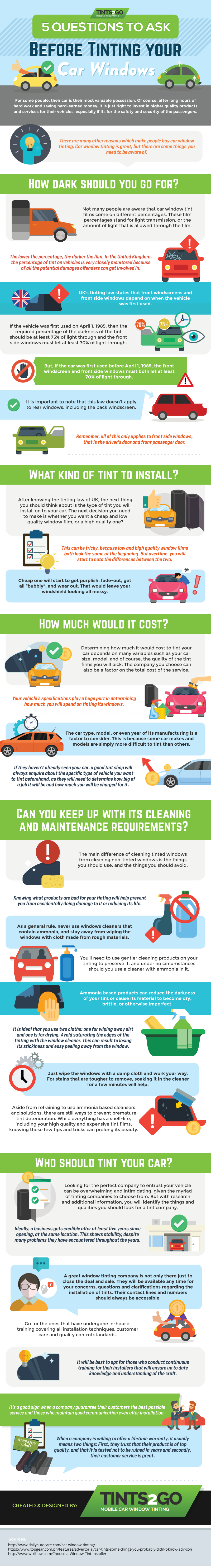 5 Questions to ask Before Tinting your car windows