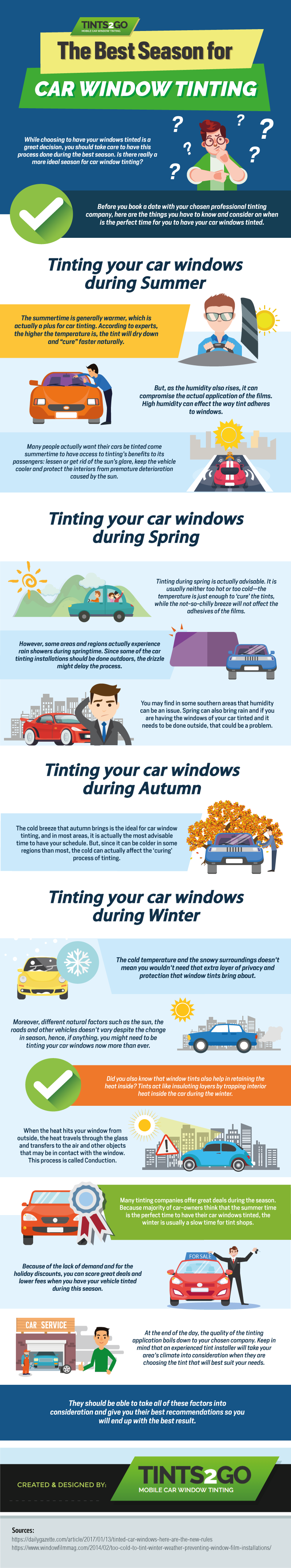The best season for car window tinting