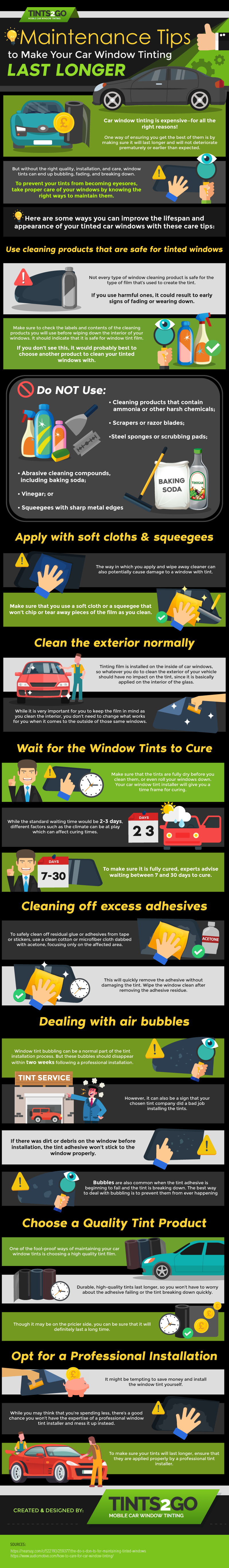 Maintenance Tips to Make Your Car Window Tinting Last Longer
