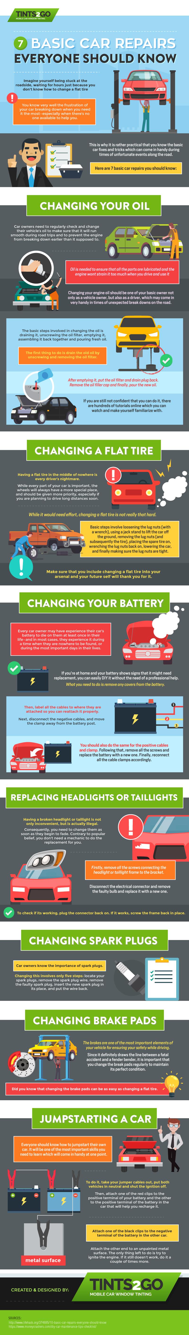 7 Basic Car Repairs Everyone Should Know
